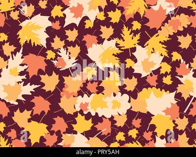 Les feuilles d'automne les modèles sans couture. Feuilles de chêne, l'érable. Jour d'action de grâce. Vector illustration Banque D'Images