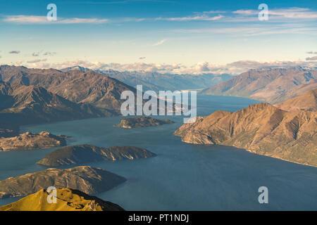 Lake Wanaka de Roys Peak, Wanaka, Queenstown Lakes District, région de l'Otago, île du Sud, Nouvelle-Zélande,