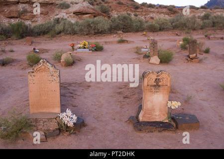 Nous, au sud-ouest, de l'Utah, cimetière, Grafton Ghost Town, Banque D'Images