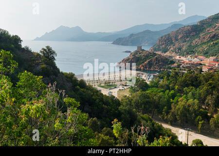 Porto, Calanche, Corse, France Banque D'Images