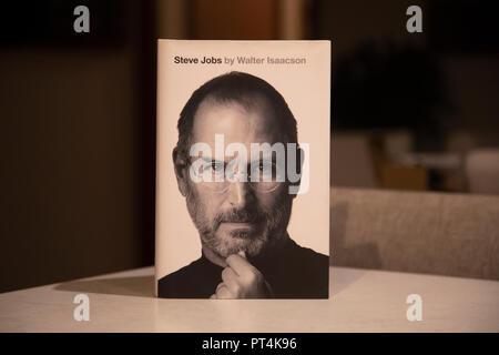 Biographie de Steve Jobs d'Apple. Banque D'Images