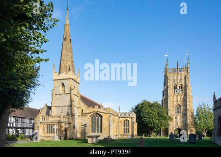 Tous les Saints de l'église paroissiale et clocher, Evesham Abbey, Evesham, Worcestershire, Angleterre, Royaume-Uni