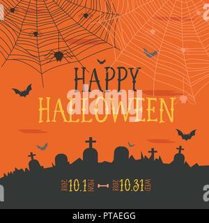 Happy Halloween pour la décoration design de l'affiche en partie Banque D'Images