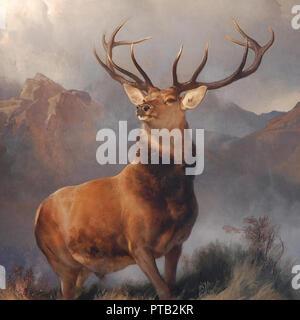 Vintage deer artwork Banque D'Images