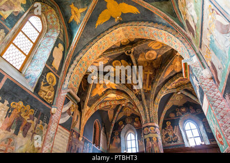 Intérieur de l'église de la Sainte Trinité de Lublin. La chapelle a probablement construit en 14 ème siècle et fut reconstruite en style gothique en 1407 Banque D'Images