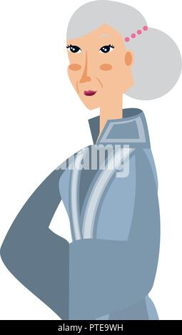 Femme de caractère chinois avatar vector illustration design Banque D'Images