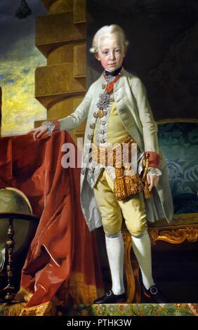 L'archiduc François-Joseph Paul,plus tard l'empereur François II (1768-1835) à l'âge de sept 1775 par Johann Zoffani (1733 -1810). ,François II, empereur romain germanique, roi d'Allemagne. Banque D'Images