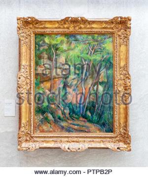 Dans le parc de château noir par Paul Cézanne, Musée de l'Orangerie, Paris, France Banque D'Images