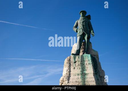 Hubert Latham Memorial, Cap Blanc Nez, Pas de Calais, France. Oct 2018 Arthur Charles Hubert Latham (10 janvier 1883- 25 juin 1912) was a French développeurs francoph