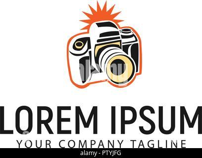Conception de logo modèle concept de l'appareil photo Banque D'Images