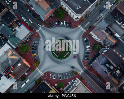 Birds Eye View of Gettysburg PA rond-point Banque D'Images