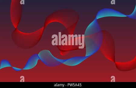 Une couleur rouge et bleu résumé fond.différentes formes Banque D'Images