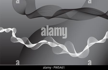 Noir et blanc résumé diverses formes numériques Banque D'Images