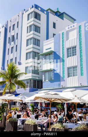 Floride, FL, Sud, Miami Beach, SoBe, quartier art déco, « Ocean Drive », jour de l'an, Park Central, Casablanca, hôtel hôtels mote inn motel