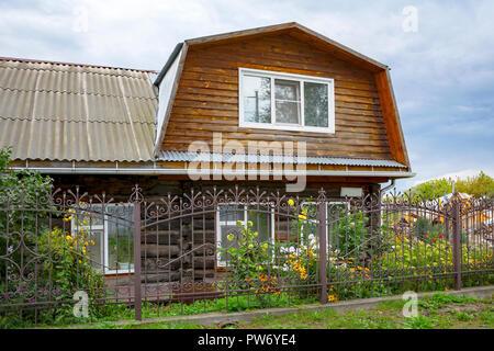 Moscow, vieille maison en bois dans le centre historique de la ville Banque D'Images
