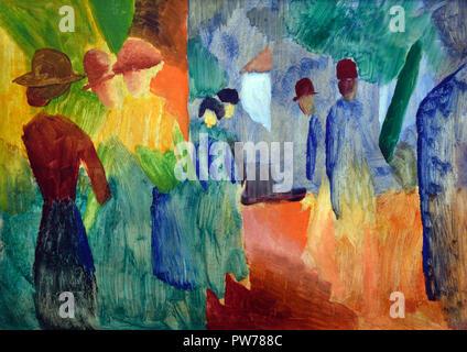 Coucher du soleil après la pluie August Macke 1914 Allemand Allemagne 1887-1914 Banque D'Images