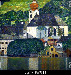 Église de Unterach am Attersee 1916 par Gustav Klimt 1862 - 1918 peintre symboliste autrichien du mouvement de sécession de Vienne Autriche Banque D'Images
