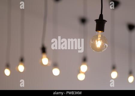 Retro Vintage à ampoules LED Banque D'Images