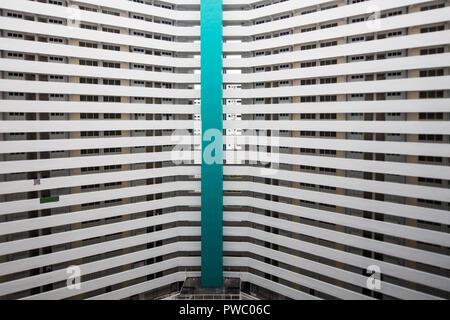 Ces blocs ont été construites à Jurong Taman que Singapour a fait une poussée de l'industrialisation d'attirer des investissements et créer des emplois. Banque D'Images