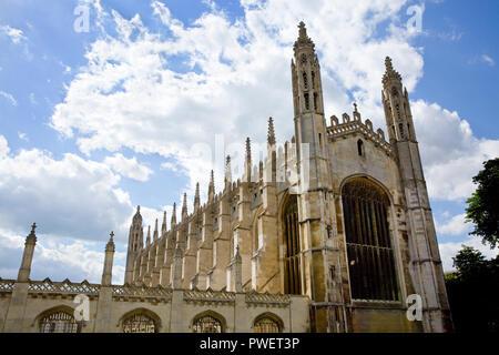 KIng's College Chapel du King's Parade, Ville de Cambridge, Cambridgeshire, Angleterre Banque D'Images