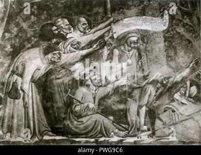 Buonamico Buffalmacco. Triomphe de la mort. détail.Camposanto, Pise.. Banque D'Images