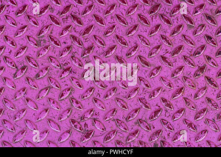 Aluminium rose avec fond de texture formes rhombus Banque D'Images
