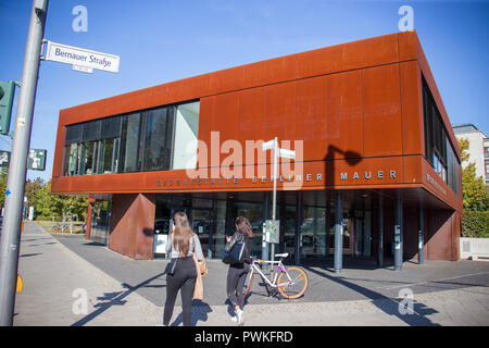 05 octobre 2018, Berlin: l'information et centre d'Mémorial du Mur de Berlin. Photo: Jens Büttner/dpa-Zentralbild/dpa Banque D'Images