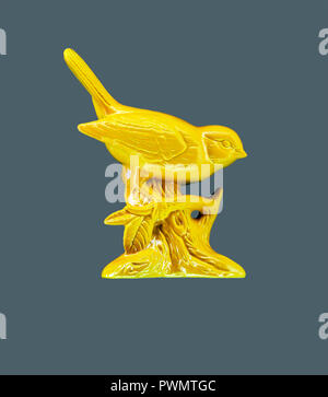 oiseau jaune Banque D'Images