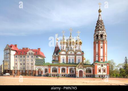La région de Kaliningrad. Moderne, belle église commémorative en l'honneur de tous les saints dans la mémoire des soldats morts pendant la Première Guerre mondiale Banque D'Images