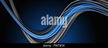 Abstract wave design élégant panorama avec l'espace pour votre texte