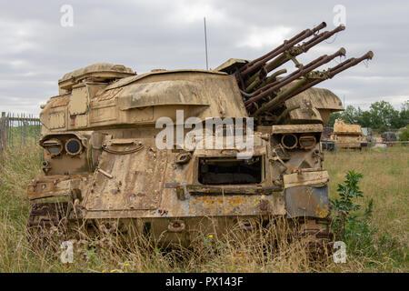 Rusty23 ZSU Russe abandonné Shilka réservoir anti-aériens