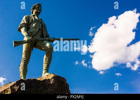 Statue Minuteman Lexington Battle Green   Lexington, Massachusetts, USA