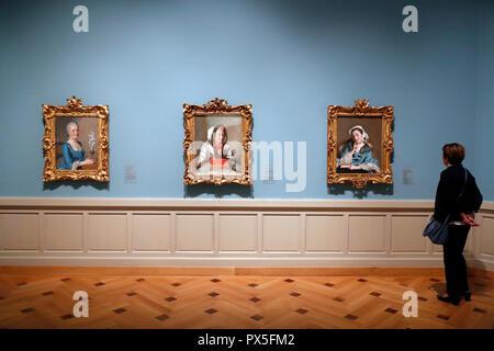 Musée d'art et d'histoire. L'art du pastel. Le titulaire conserve environ 300 pastels. Genève. La Suisse. Banque D'Images