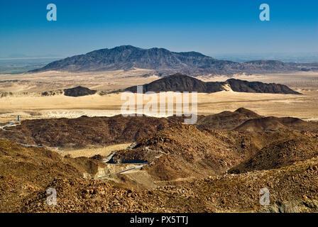 La Rumorosa Grade sur le Mexique 2-D'autoroute à péage, dans le désert de Sonora, Basse Californie, Mexique Banque D'Images