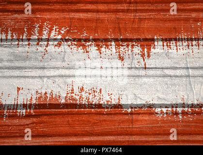 Drapeau Autriche concept design. Texture du pavillon par grungy motif bois. Image par rapport au billet et thèmes politiques Banque D'Images