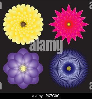 Fleur décoration Mandala géométrique Banque D'Images