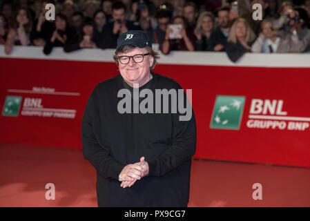 Rome, Italie. 20 Oct, 2018. Michael Moore qui fréquentent le tapis rouge pour Fahrenheit 9/11 à Rome Film Fest 2018 Credit: Silvia Gerbino/Alamy Live News Banque D'Images