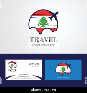 Drapeau Liban Voyage Carte De Visite Et Logo Design Banque DImages