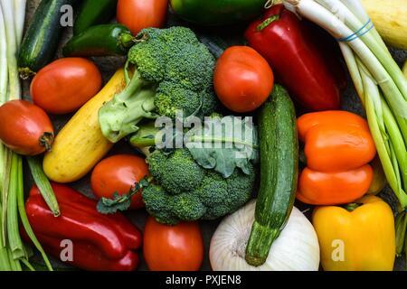 Jardin de légumes frais du marché libre Banque D'Images