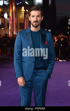 Gwilym Lee participant à la Bohemian Rhapsody Première mondiale tenue à l'Aréna de l'ETI, Wembley, Londres. Banque D'Images