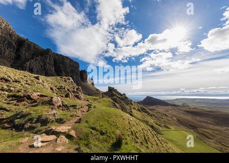 Royaume-uni, Ecosse, Hébrides intérieures, à l'île de Skye, Trotternish Quiraing, sentier de randonnée, tourisme Banque D'Images