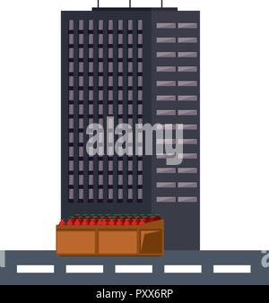 Décor pixélisé Jeux vidéo Banque D'Images