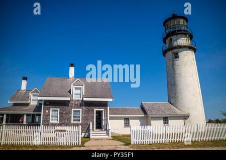 Le Highland Light à Cape Cod National Seashore, Massachusetts Banque D'Images