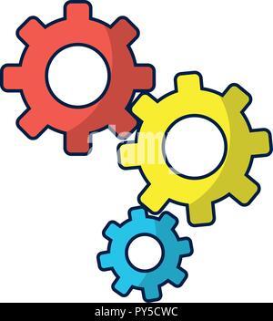 Les vitesses de travail de machines Banque D'Images