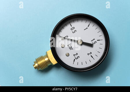 La manométrie de mesure de pression. Gros plan du..