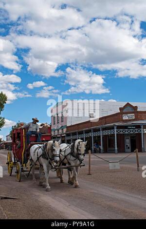 Allen Street Stagecoach. Tombstone Arizona USA