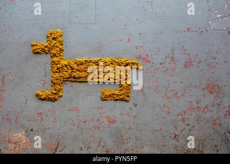 Un Hauswand Kunst und au Pérou, de l'Art sur un mur de la maison au Pérou Banque D'Images