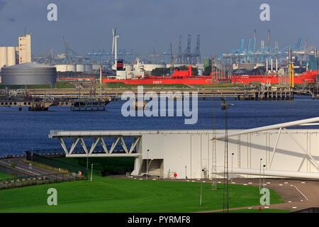 Maeslant Barrier, Hoek van Holland, Rotterdam, Pays-Bas, Europe Banque D'Images
