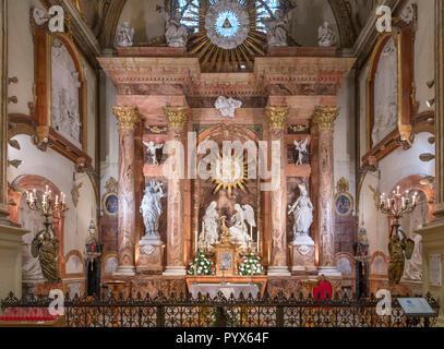 Capella de la Encarnacion (chapelle de l'Incarnation), la cathédrale de Málaga, Málaga, Costa del Sol, Andalousie, Espagne