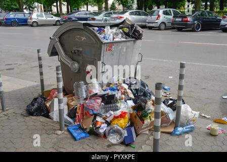 Poubelle, centre-ville de Sofia, en Bulgarie, Muelleimer, Innenstadt, Spanien Banque D'Images